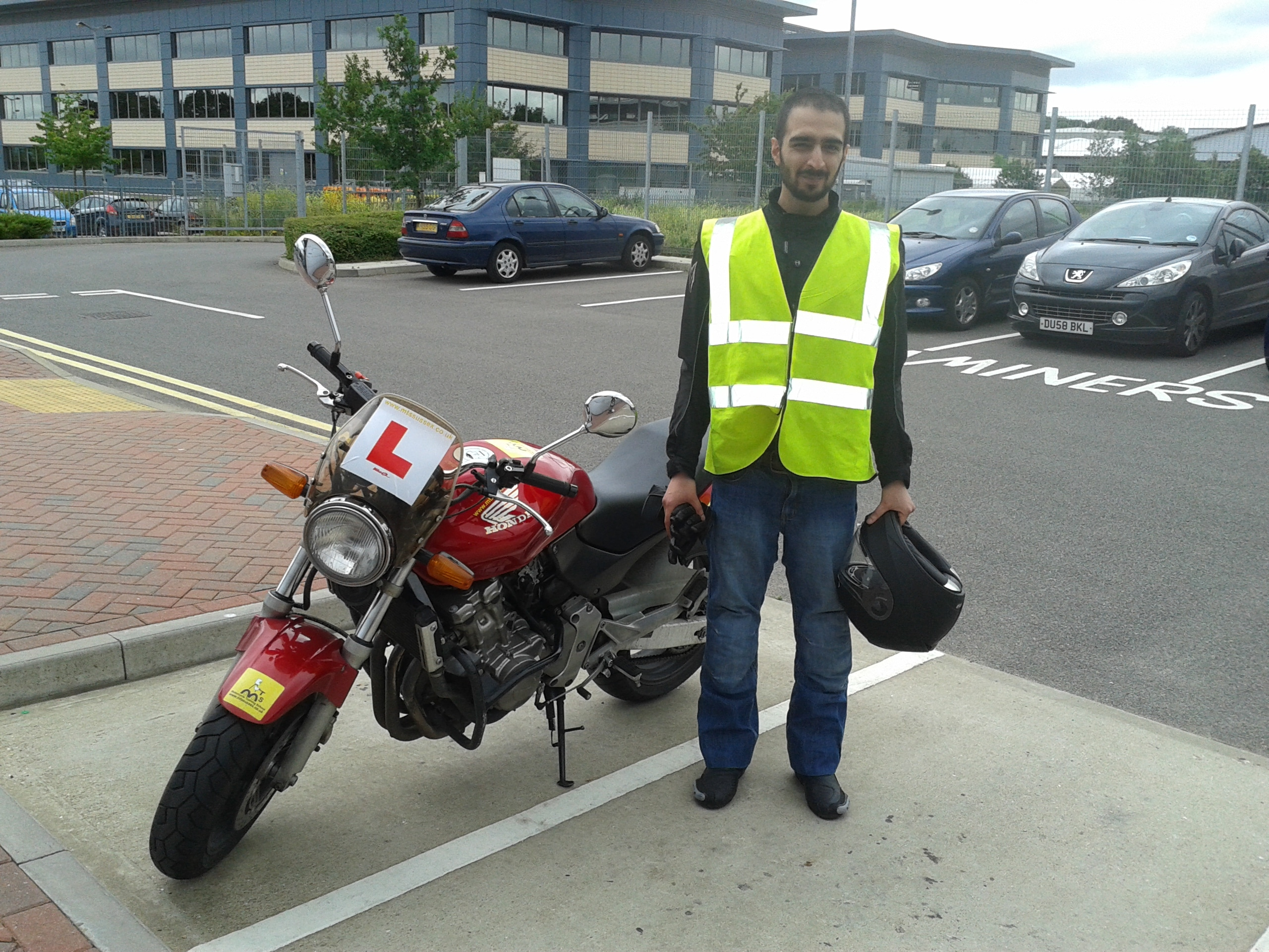 Tahir from East Grinstead ready for his Suzuki!
