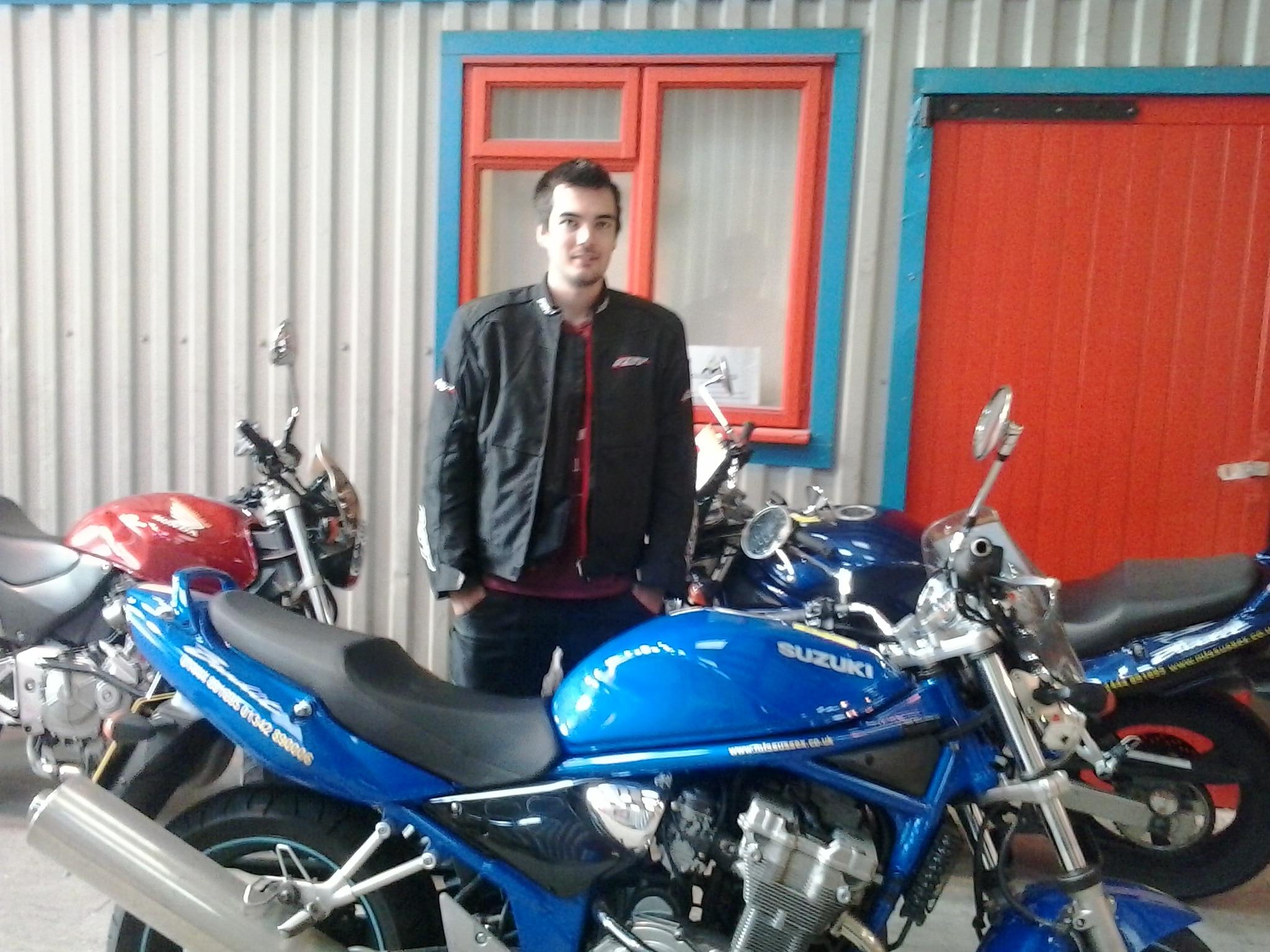 Hassocks has another motorbike rider!