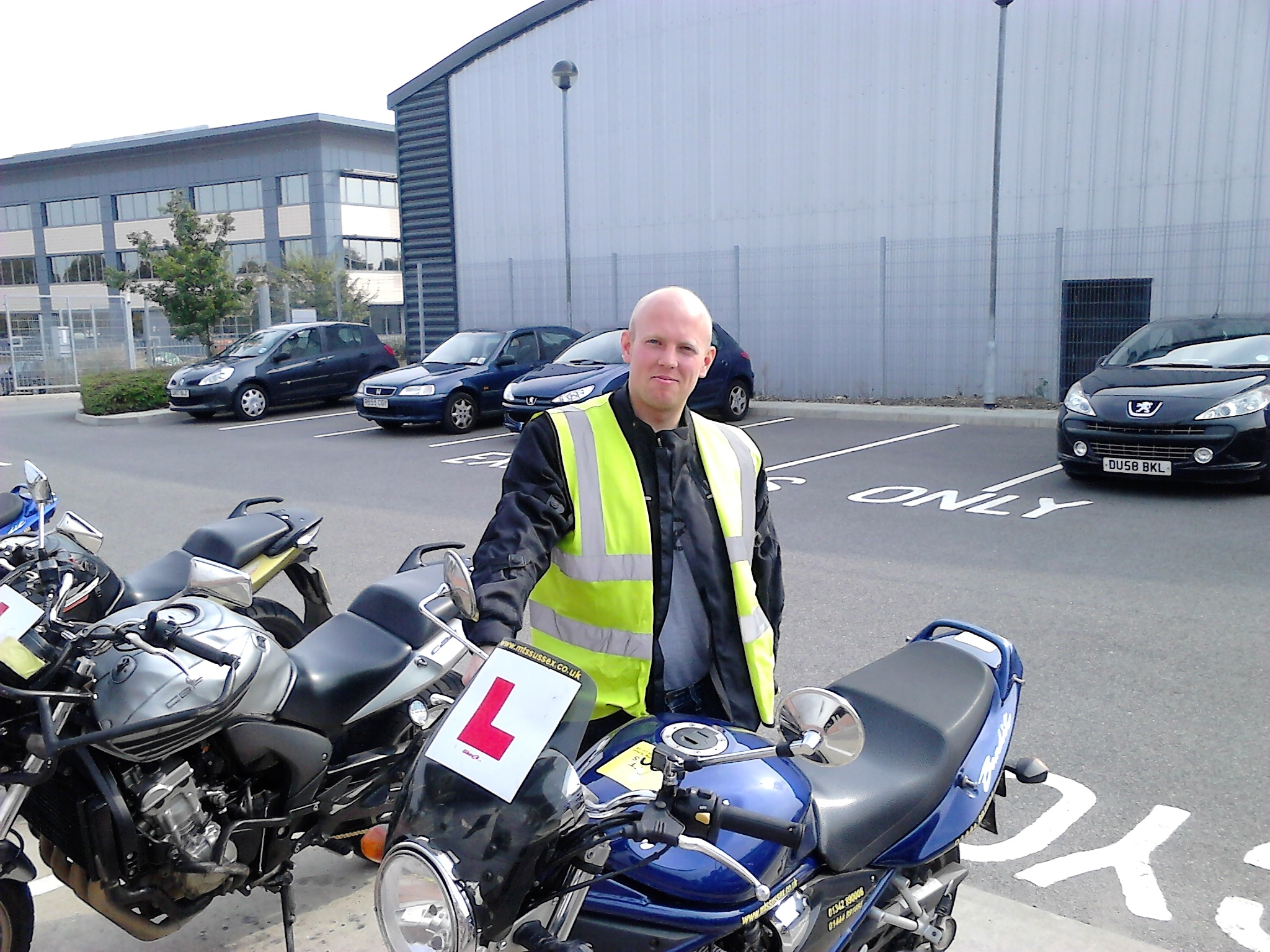 David Barnett looking pleased as punch at Burgess Hill test centre!