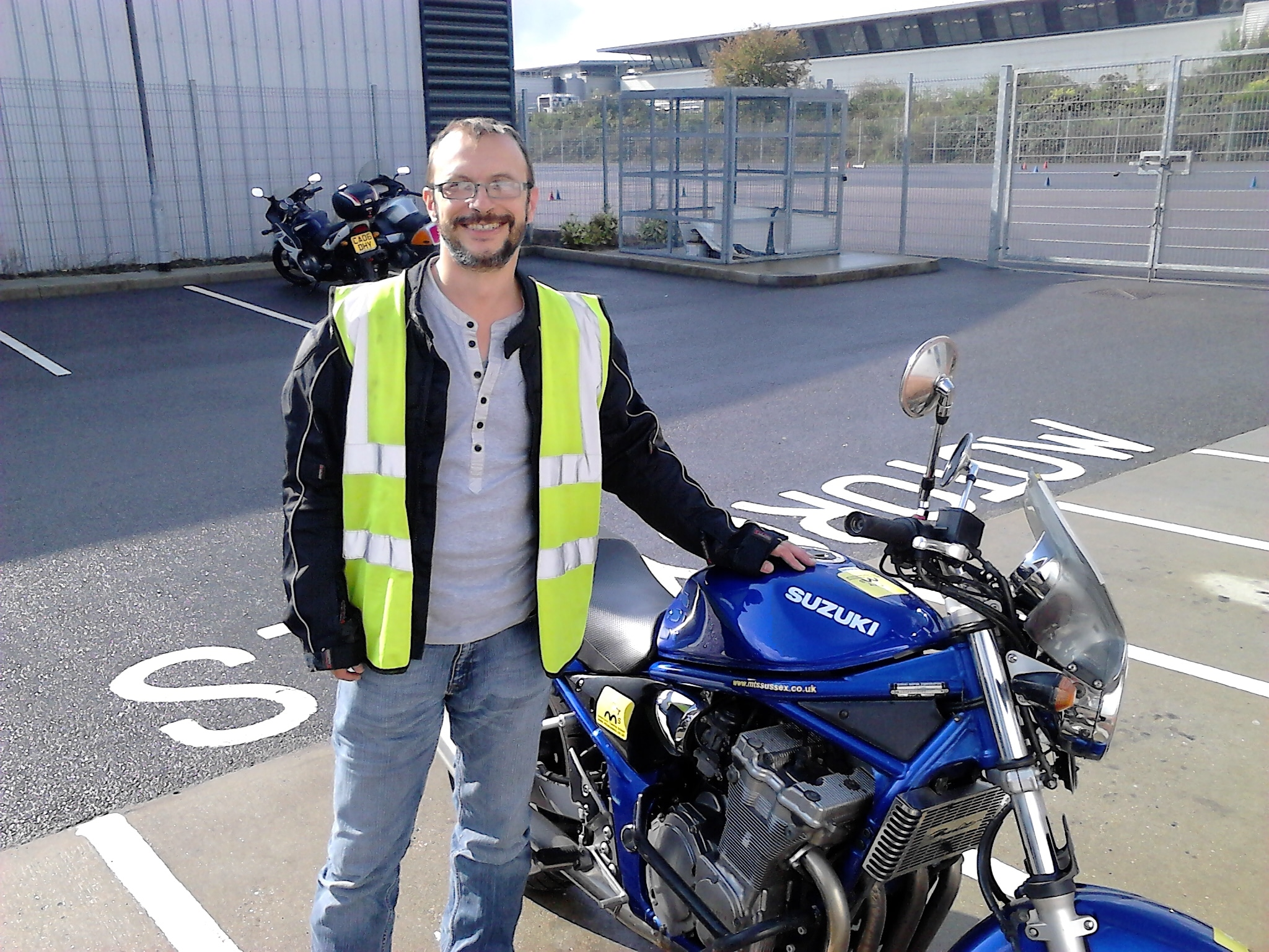 Dennis from Surrey proud to have his full motorbike licence