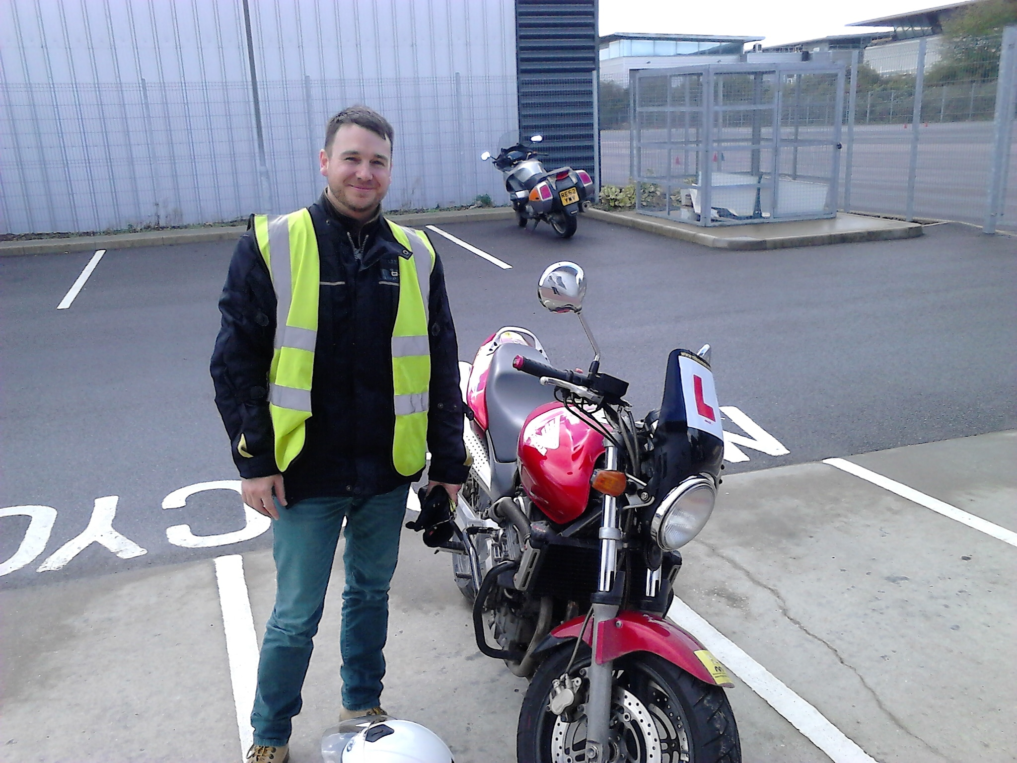Matt posing with the Honda!