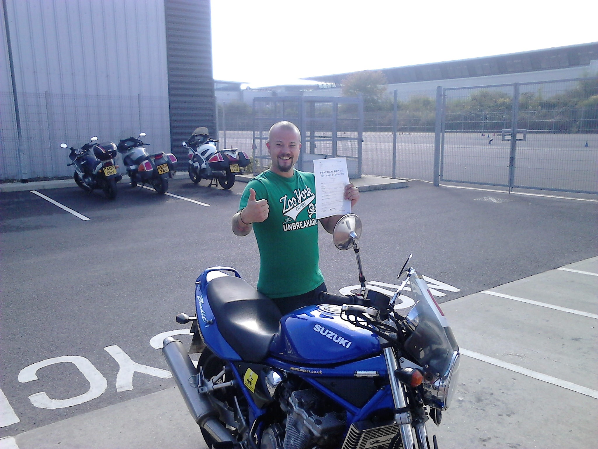 A happy Hove biker passes DAS!