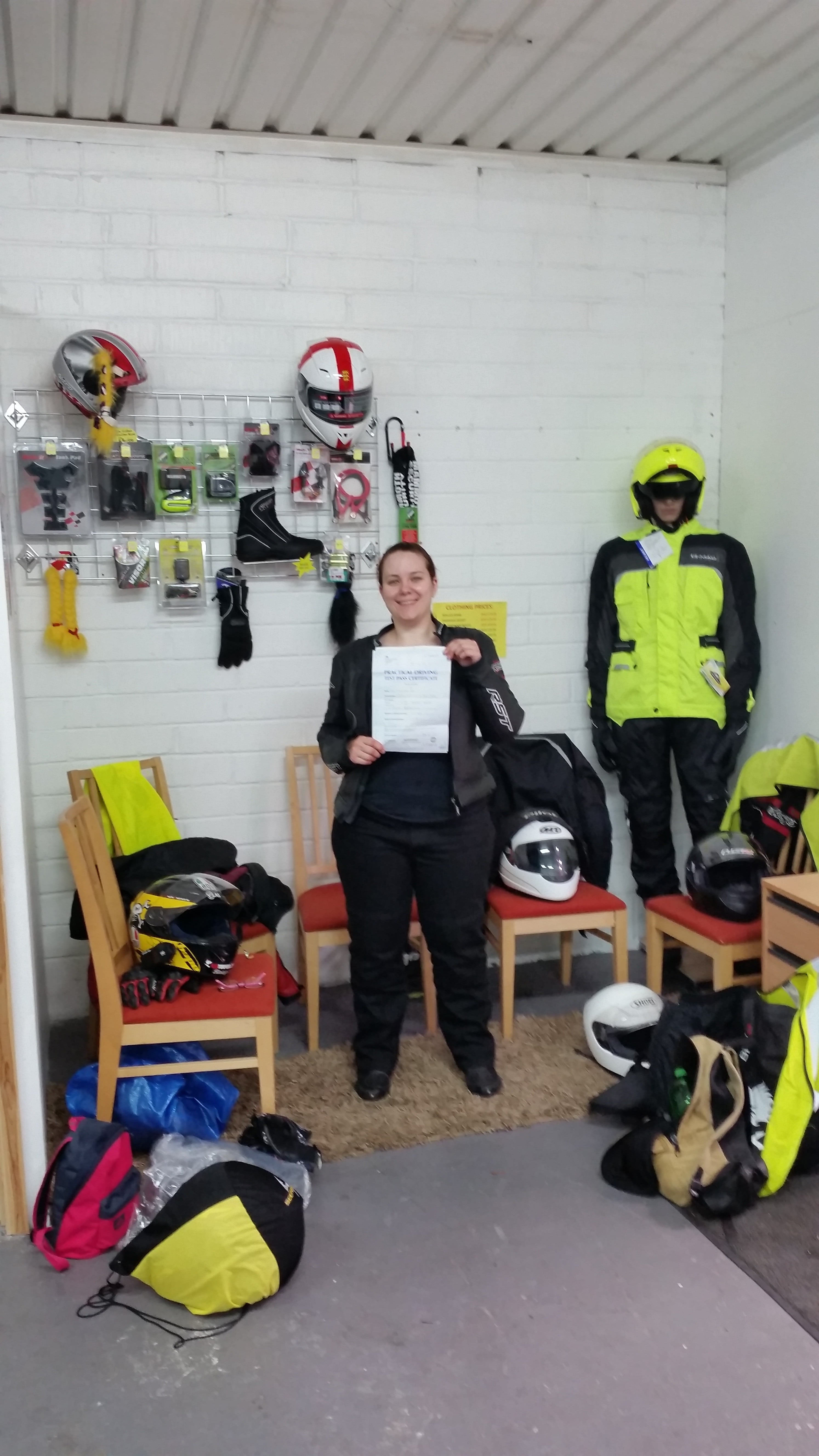Claire from Crawley proudly showing her DAS pass