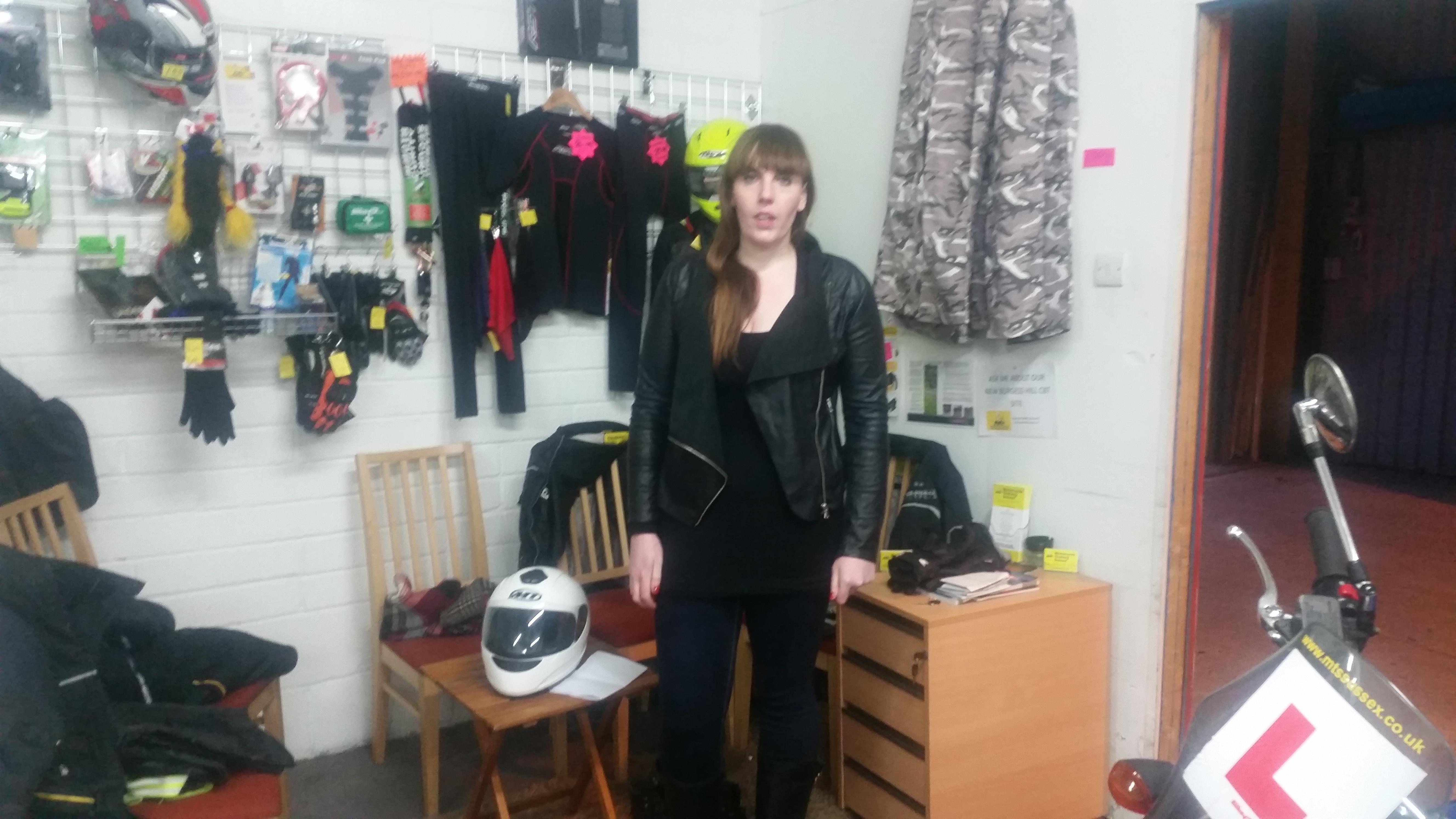 Burgess Hill biker girl!