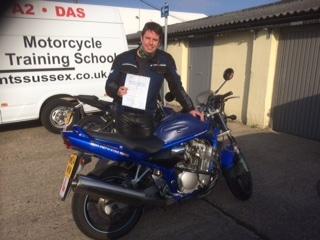 Matt Martin with his DAS pass in hand!