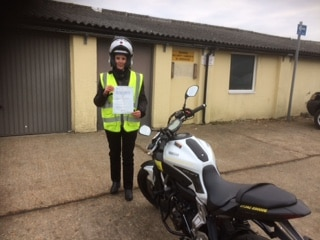 Emma (looking very) Smart with her DAS pass today!