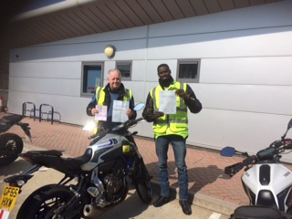 Ian and Omar cheering up the burgess Hill DVSA centre