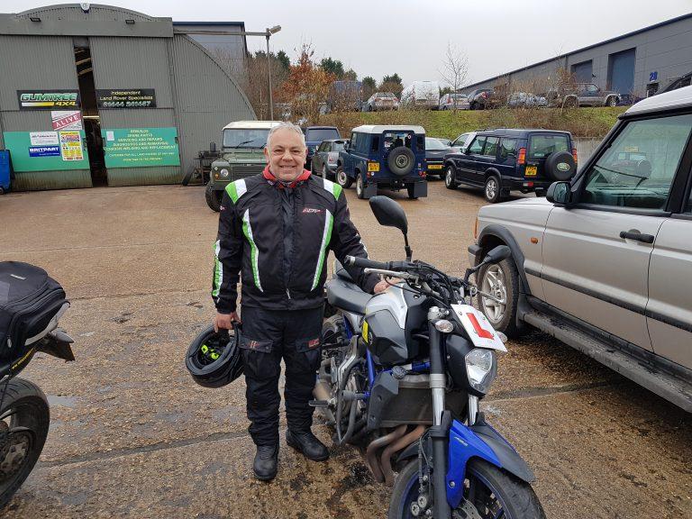 Bill's a very happy biker now