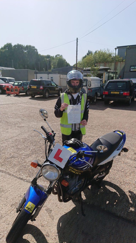 Stunt rider from Crowborough does wheelie well!