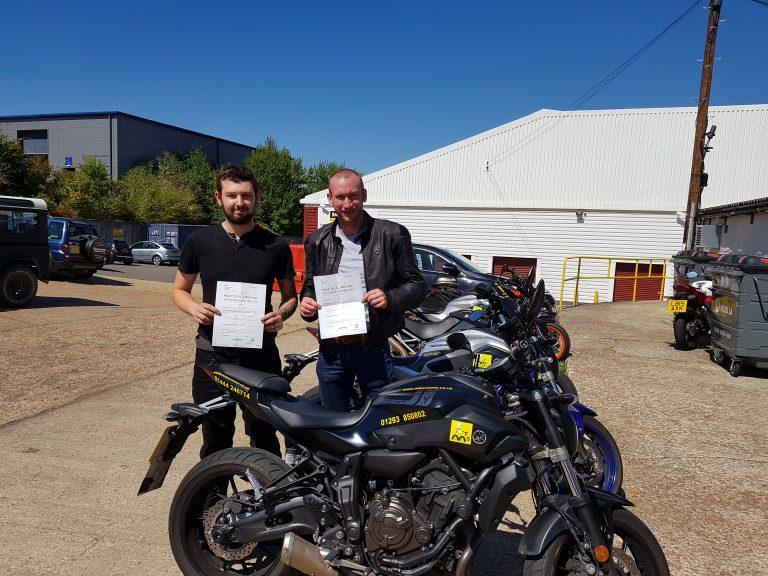 Crawley meets Crowborough in motorbike training success