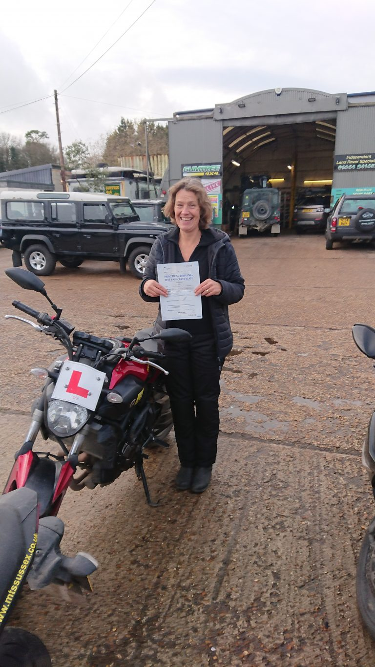 Madeleen from Forest Row with her DAS pass
