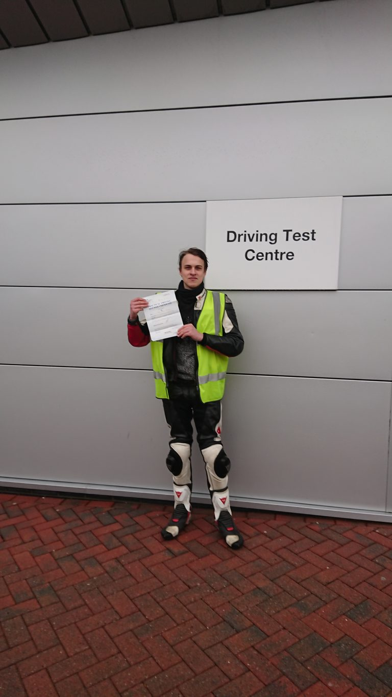 James from Horsham passes with a smile!