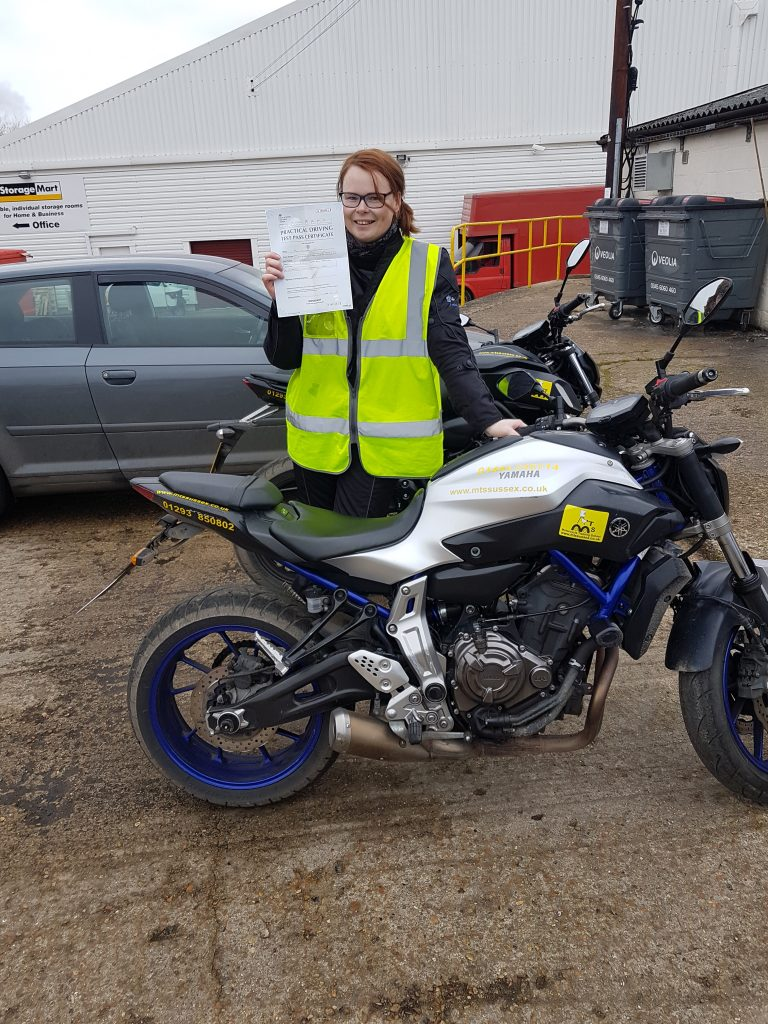A fab pass for another lady biker!