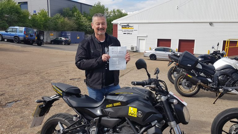 Nigel off to ride his Yamaha Tracer!