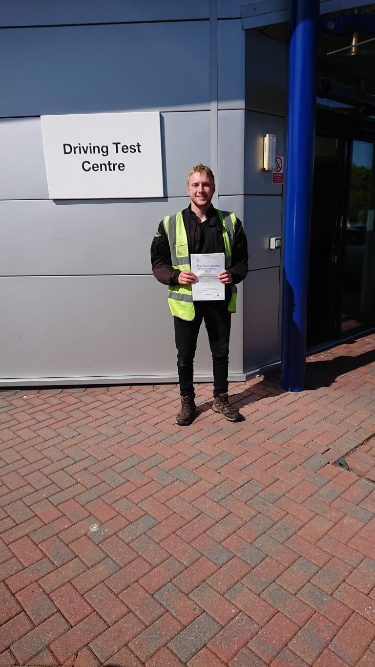 Josh looking jolly after his fantastic pass!