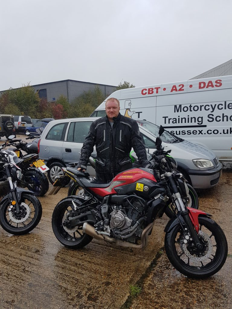 It's all about the red Yamaha MT-07!