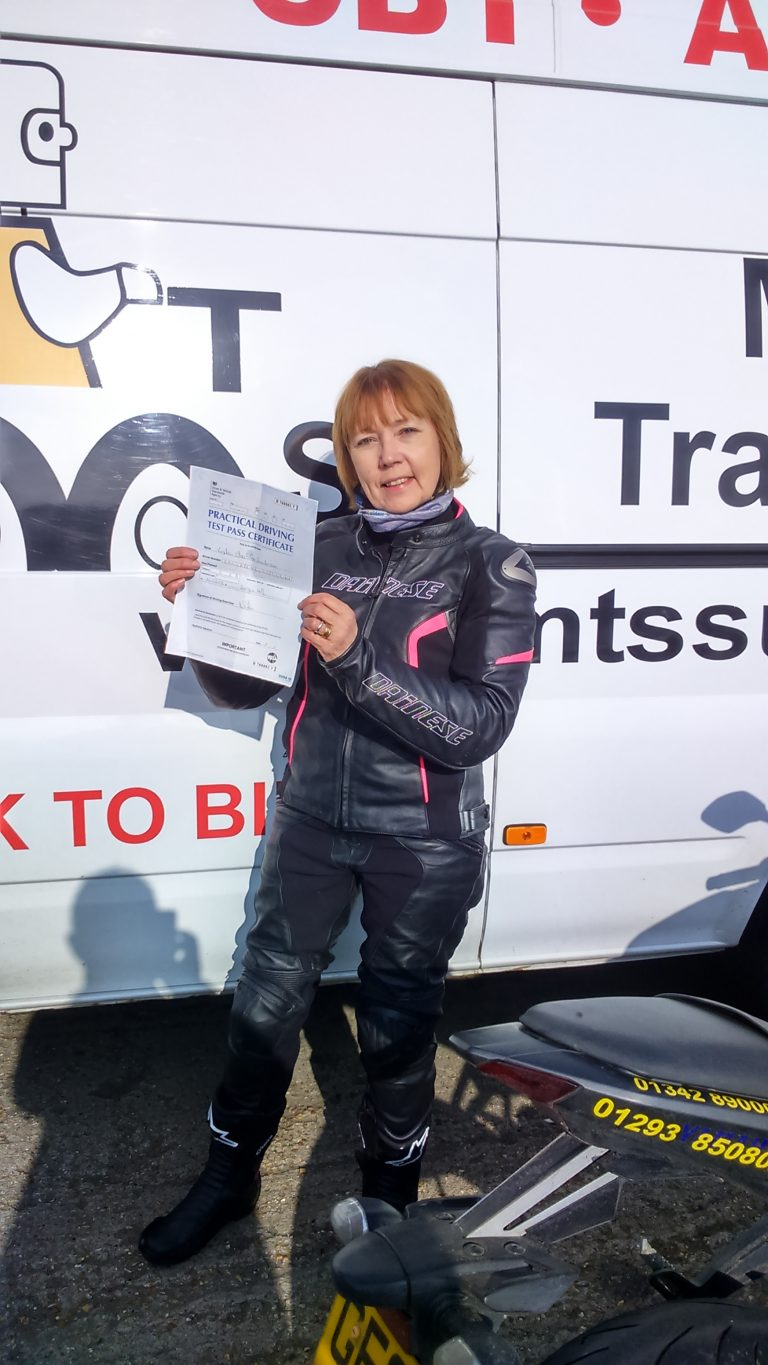 Lovely Lydia joins the lady bikers with her DAS pass today!