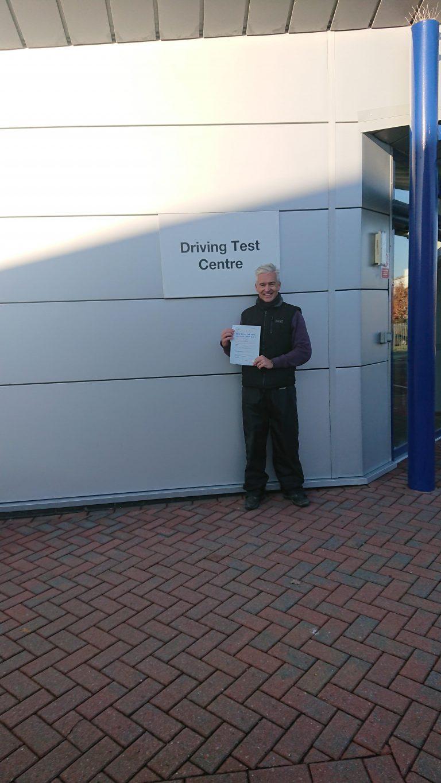 Good news for Trevor Webb of Lingfield