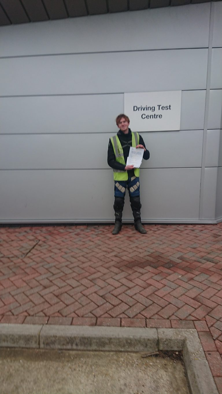Thomas Jones from Burgess Hill a very happy A2 pass!