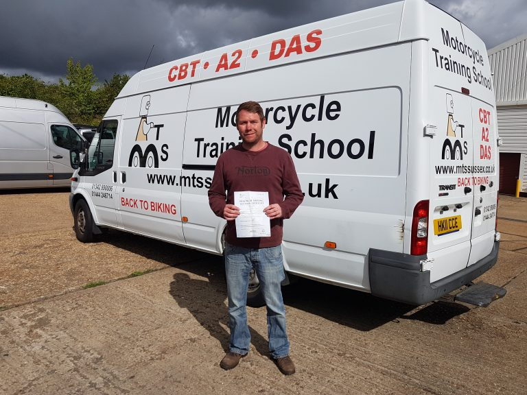 Excellent pass for Ed of Crowborough!