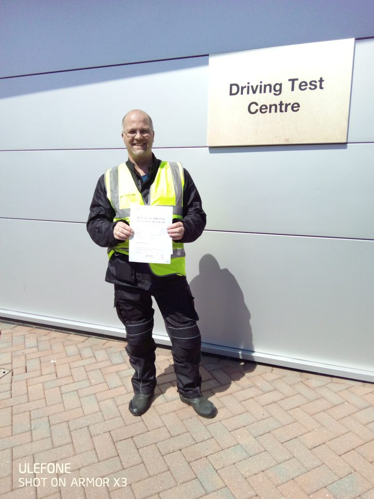 A perfect pass first time for Crawley rider!