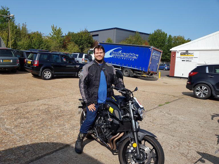 Matt Wren from Haywards Heath happy for a DAS pass today!