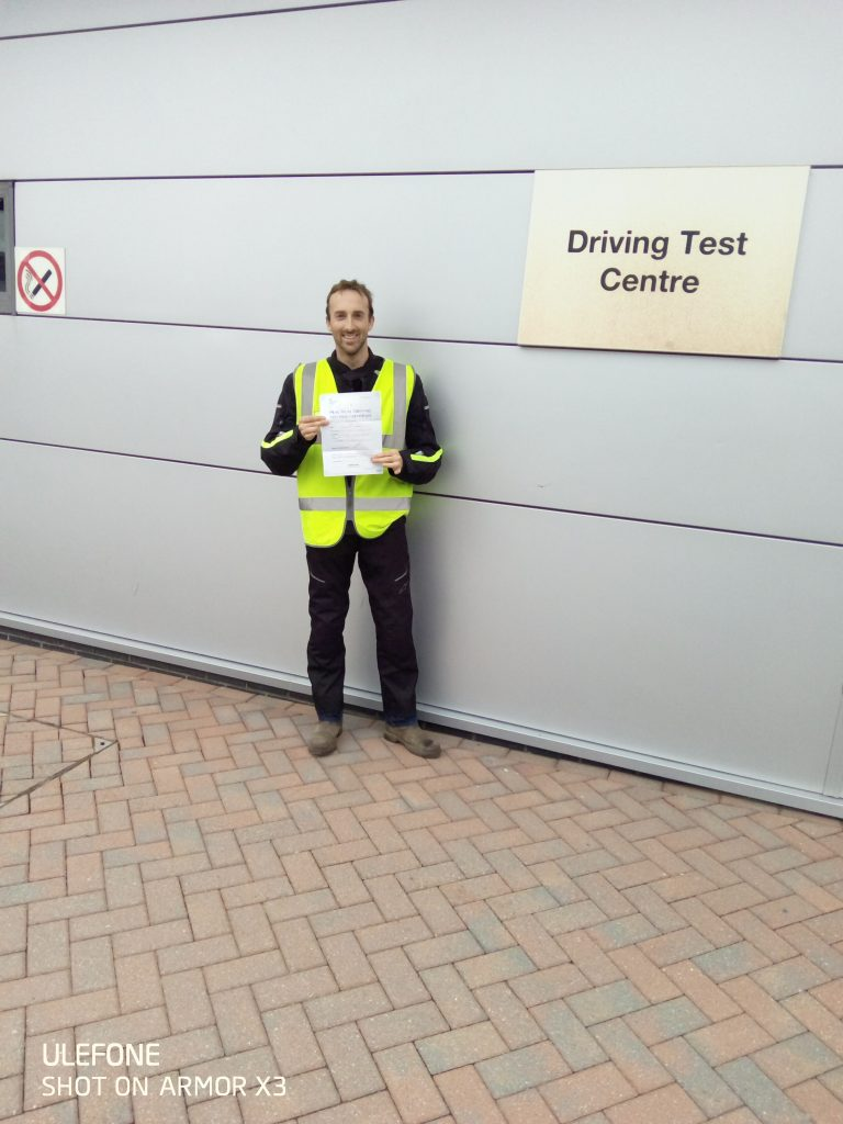 Russell from Kent gets his full licence today!
