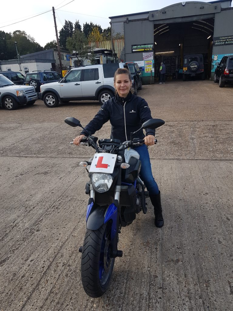Another lady biker joins the roads of Sussex with todays DAS pass!