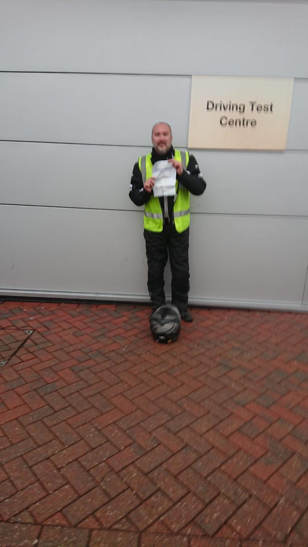 New Rider to full DAS licence for Matt of Haywards Heath!