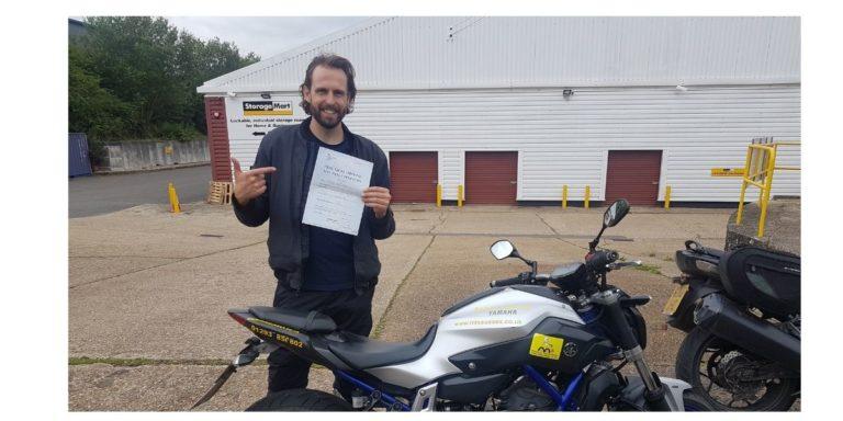 Matt from Crowborough claims his pass!