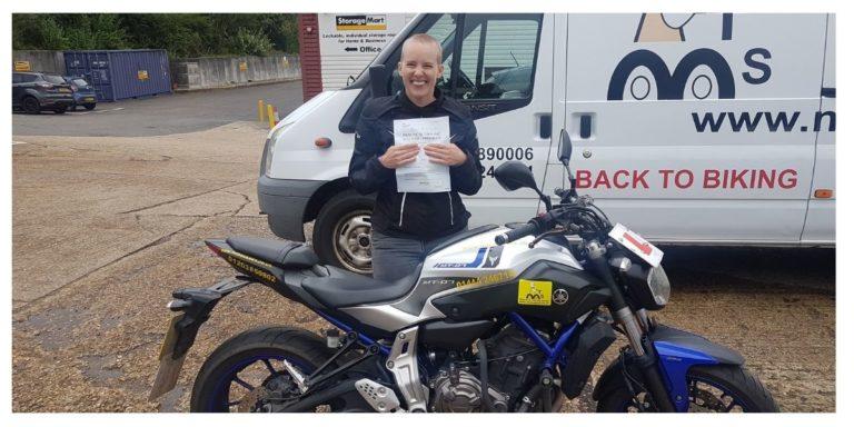 Lady Biker Hannah passes DAS
